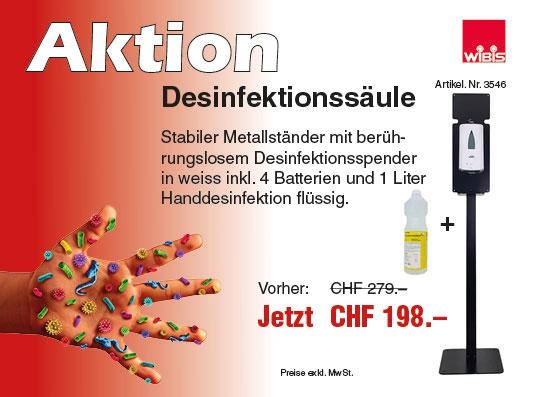 Aktion Desinfektion und mittel